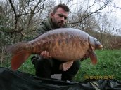 Dean Robinson with one of the Fully Scaled's @ 25lb 6ozs
