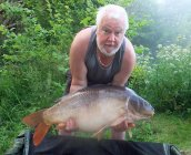 Barry Gravel with the legend that is 'Nick' at 45lb on the money